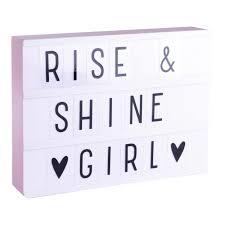 A Little Lovely Company lightbox a4 roze
