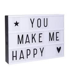 A Little Lovely Company lightbox a4 zwart