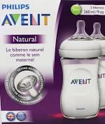 Avent natural 2-pack zuigflessen 260ml