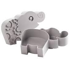 BLAFRE Brooddoos olifant grijs