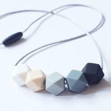 Blossom & Bear halsketting bijtring grijs