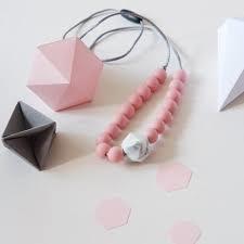 Blossom & Bear halsketting bijtring roze