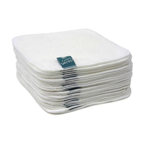 Cheeky Wipes Billendoekjes cotton terry wit 25 stuks