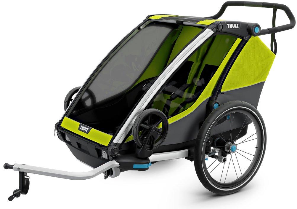 Fietskar Thule Chariot Cab 2 model 2019 met achterlicht en extra ventilatie