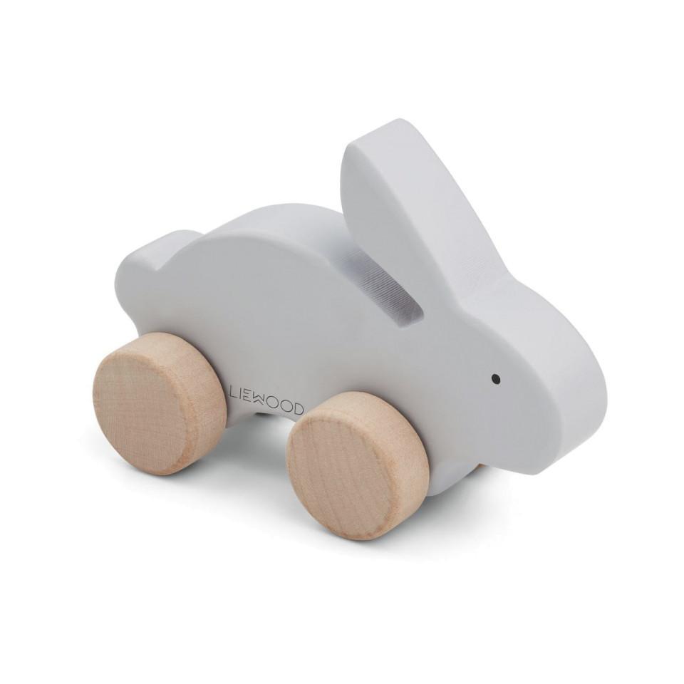 Liewood Elena wood toy rabbit dumbo grey