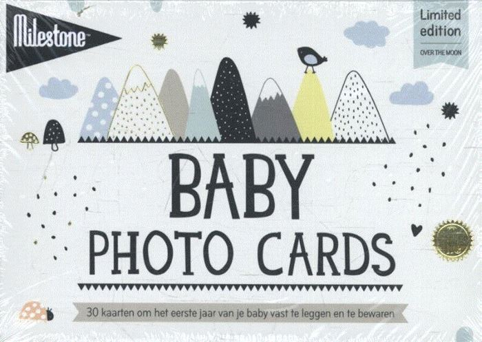 Milestone baby photo cards over the moon - Nederlands
