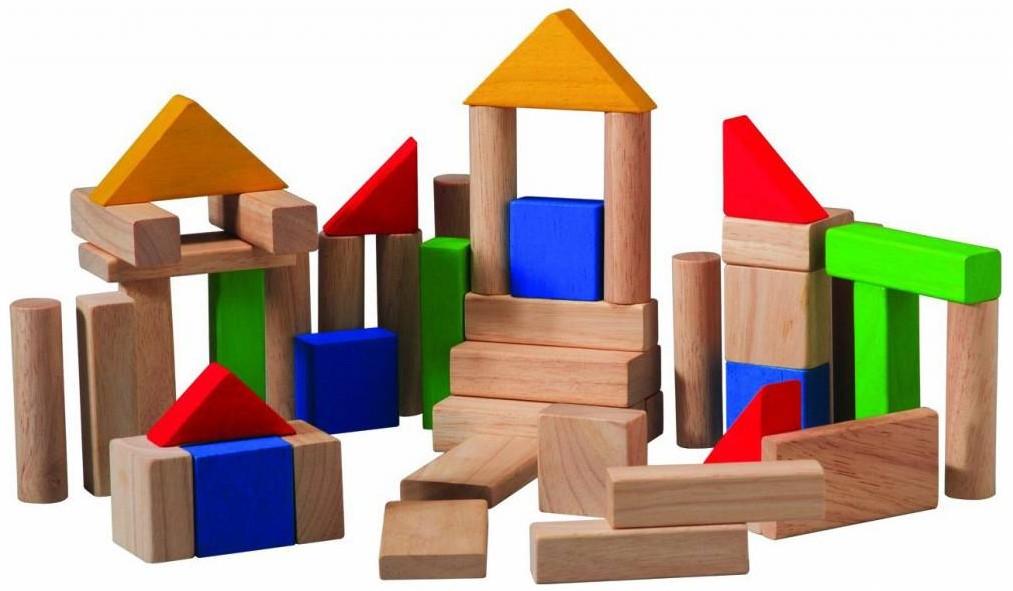 Plan toys 50 blokken gekleurd