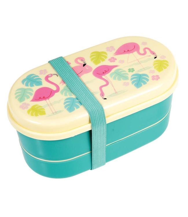 Rex London Bento box flamingo bay