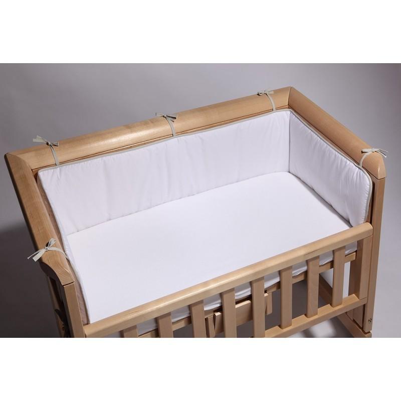 TROLL Bedside crib bedbumper wit + hoeslaken
